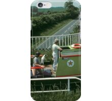 Narrow boat crossing Stretton Aqueduct, UK. iPhone Case/Skin