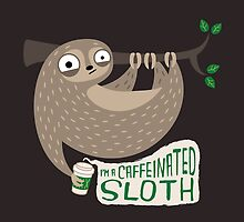 Caffeinated Sloth by murphypop