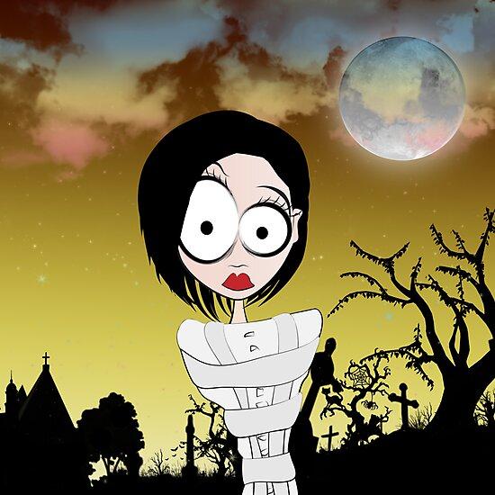 Crazy Girl in a Graveyard by Brenda Boo