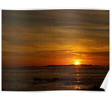 Sunset Over Burhou Poster