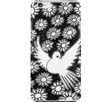 Flovers and pigeon iPhone Case/Skin