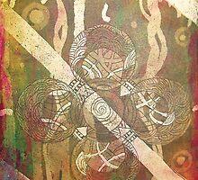 Celtic Cross Print by universal-t