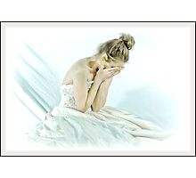 a brides blue wedding day Photographic Print