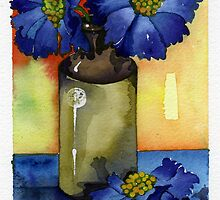 Blue Flowers by Louise  Buss