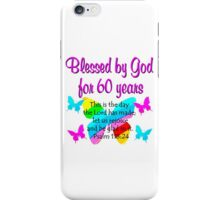 CHRISTIAN 60TH YEAR OLD BIRTHDAY iPhone Case/Skin