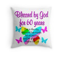 CHRISTIAN 60TH YEAR OLD BIRTHDAY Throw Pillow