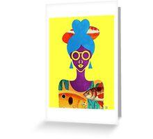 Girl with Sea Monster Shirt Greeting Card