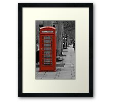 London red Framed Print