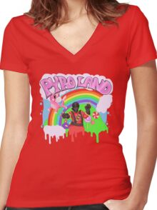 Pyro Land Park- TF2 Women's Fitted V-Neck T-Shirt