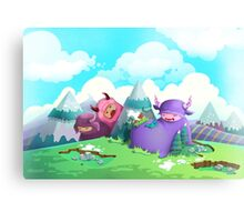 Cute monsters in the nature Canvas Print