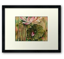 """Master and Follower"" from the series ""In the Lotus Land"" Framed Print"