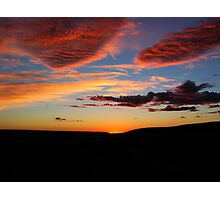 harvest sunset Photographic Print
