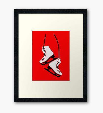 Figure skating skates Framed Print