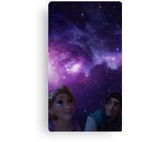 Eugene and Rapunzel Galaxy Canvas Print