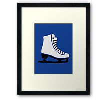 Figure skating skate Framed Print