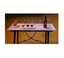 Sherry Tasting Table Art Print