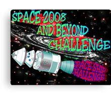 SPACESHIP CHALLENGE Canvas Print