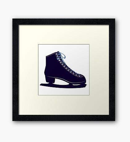 Ice skate Framed Print