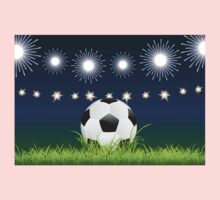 Soccer Ball and Night Stadium Kids Clothes