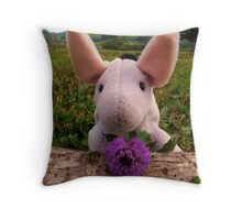 Eeyore with Thistle Throw Pillow