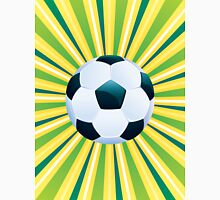 Soccer Ball on Green Background Unisex T-Shirt