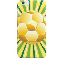 Soccer Ball on Green Background 2 iPhone Case/Skin