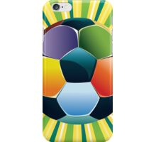 Soccer Ball on Green Background 3 iPhone Case/Skin