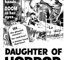 Retro Movie Poster Daughter of Horror by Charlottesw3b