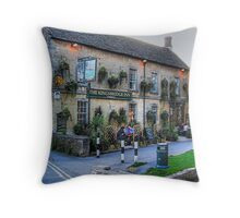 The Knightsbridge Inn. Burton-on-the-Waters, Cotswolds Throw Pillow