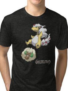 Ben's Mega Ampharos & Whimsicott Tri-blend T-Shirt