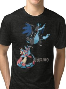 Kelly's Mega Charizard X & Milotic Tri-blend T-Shirt