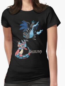 Kelly's Mega Charizard X & Milotic Womens Fitted T-Shirt