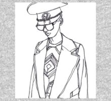 Military Woman Sketch Kids Clothes
