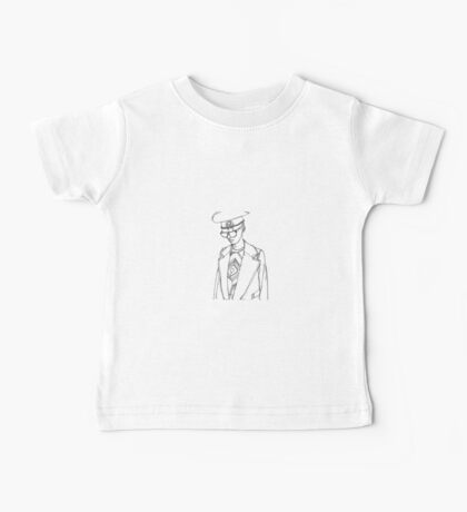 Military Woman Sketch Baby Tee