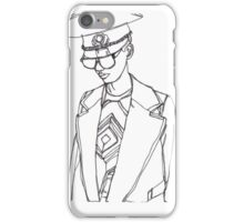 Military Woman Sketch iPhone Case/Skin