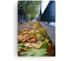 A Walk By The Thames Canvas Print