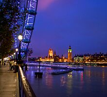 Blue London Night by Bradley Old