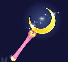 VECTOR MOON - anime Moon Stick by Hybryda