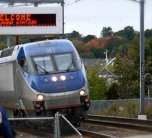 Amtrak Northeast Direct Regional Train 172 approaches Mystic Ct by Jack McCabe