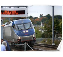 Amtrak Northeast Direct Regional Train 172 approaches Mystic Ct Poster
