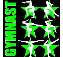 GORGEOUS GREEN GRACEFUL GYMNASTICS Photographic Print