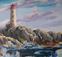 Peggy Cove Ligthouse by Gerard Bahon