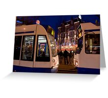 Two Trams Greeting Card