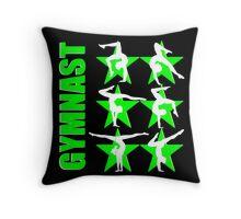 GORGEOUS GREEN GRACEFUL GYMNASTICS Throw Pillow