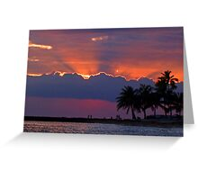 Sunset Over Honolulu Greeting Card