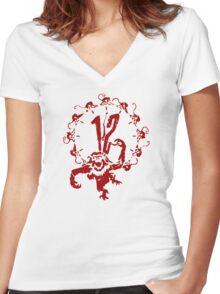 A Dozen Simians Women's Fitted V-Neck T-Shirt