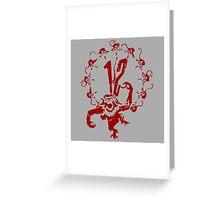 A Dozen Simians Greeting Card