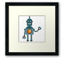 Cute little Robot Framed Print