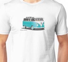 VW Bus T2 Teal Blk Unisex T-Shirt