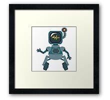 Cute little Robot Framed Print